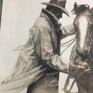Amazing Marlboro cowboy and his pal.